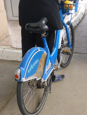 A french city bike has found a new home in Romania