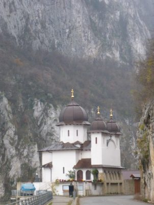 Monastery in the Iron Gates National Park