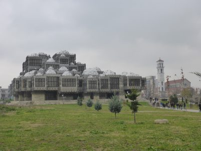 Prishtina University Library. Voted the world's ugliest building.