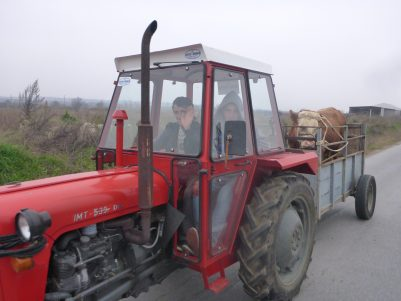 Overtaking tractors in Kosovo
