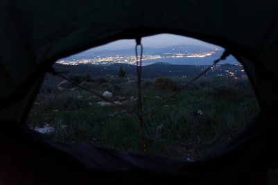 View of Argos from the tent