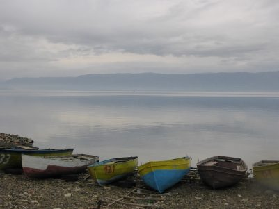 Boats at Lake Ohrid