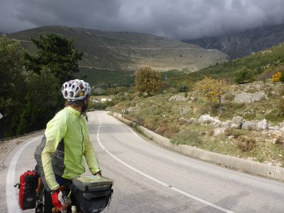Looking back at the Llogara Pass