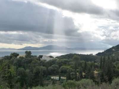 Corfu coast road