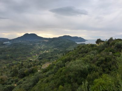 Looking towards South Corfu