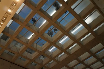 Glass ceiling in the New Acropolis Museum