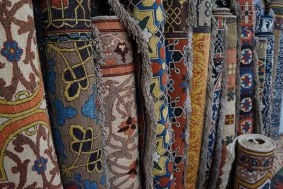 Finest quality Uzbek carpets. Could be a good addtition to the tent.