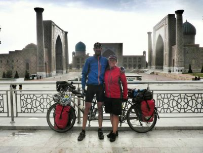 Marcus and Kirsty ride to The Registan