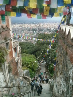 View of Kathmandu from Swayambhunath (Monkey Temple)