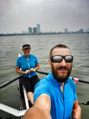 Rowing on the West Lake, Hanoi