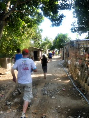 Phnom Penh Hash House Harriers coming through