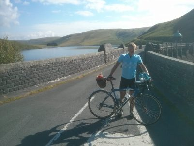 Matt on the Craig Goch Dam, Elan Valley
